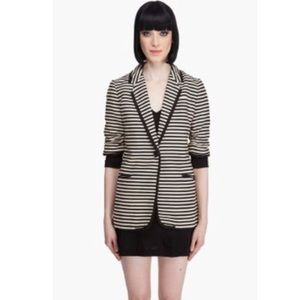 [Elizabeth and James] Stripped Preppy Blazer
